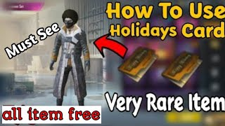 How to use holiday card in Pubg mobile ! You miss it