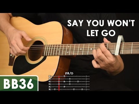 Say You Won't Let Go - James Arthur Guitar Tutorial (feat. Karl Zarate) Mp3