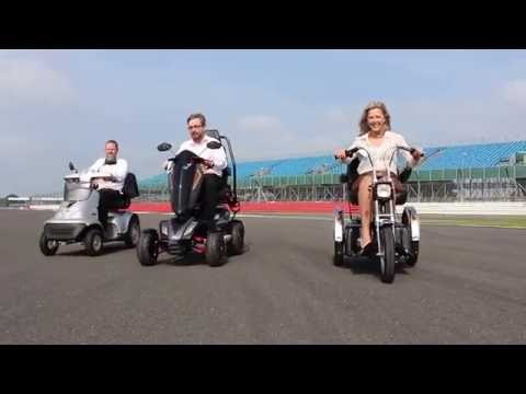 Experience the TGA mobility scooter test drives around Silverstone YouTube video thumbnail