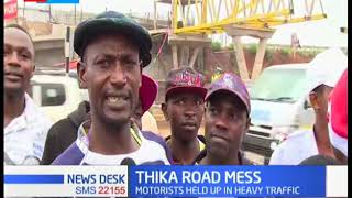Construction Engineers caused drama on Thika Super Highway
