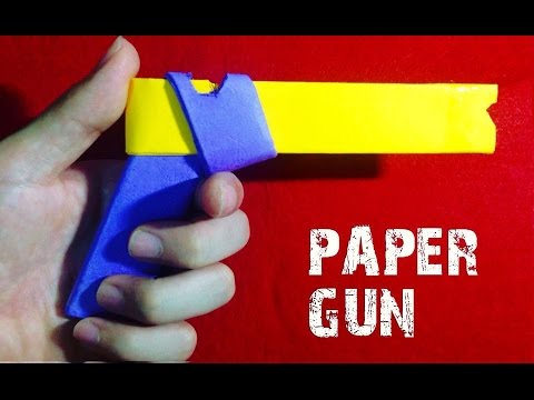 How to make a Paper Gun that Shoots - Easiest Way