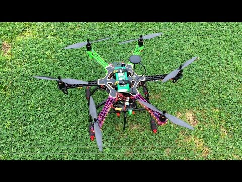 First Flight of Home Built Hexacopter