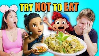Try Not To Eat Challenge - Disney (Raya, Luca, Moana, Zootopia) | People Vs. Food