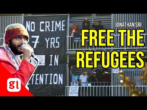 Jonathan Sri: Free the refugees at Kangaroo Point
