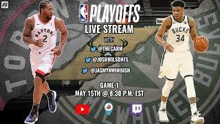 NBA Eastern Conference Finals:  Toronto Raptors vs Milwaukee Bucks (Game 1)