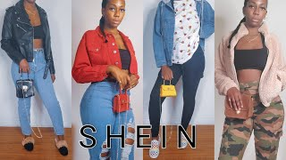 New Year New Haul | Shein Jeans & Jackets Haul | LacedByLeas
