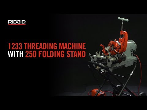 RIDGID 1233 Threading Machine With 250 Folding Stand