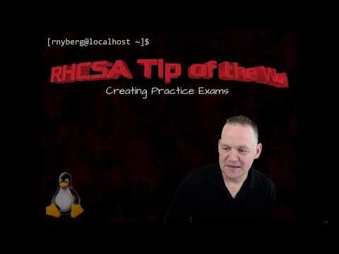 RHCSA Tip of the Week - Creating Practice Exams - YouTube