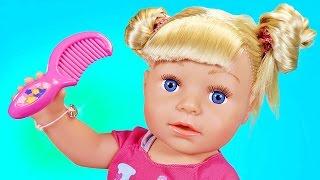 Пупсики играют куклы 2016 Беби Бон мальчик спит Девочка играет Мама делает прическу vlog Зырики ТВ