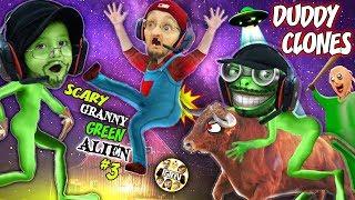It's a SCARY GREEN BALDI GRANNY GRANDPA CLONE ALIEN, WHAT??? 👽  Weird FGTeeV Farmer Game Continues