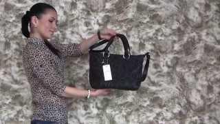 Женская мягкая черная сумка 3D - 1358-3D