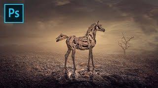 Photoshop Surreal Manipulation - Arid Life (Photoshop Tutorial)