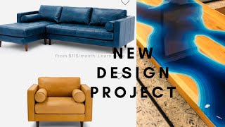 DESIGNING A NEW SPACE!!//MODERN CONTEMPORARY MID CENTURY DECOR STYLE!!