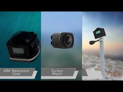 KITVISION Immerse 360 Panorama Actioncamera, FHD 1440P WiFi