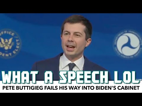 Pete Buttigieg Gives Laughable Speech After Failing His Way Into Biden's Cabinet