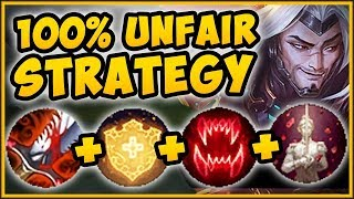 WTF! OVERHEAL YASUO GIVES OFF OVER 1000 HP SHIELDS?? YASUO TOP GAMEPLAY!   League Of Legends