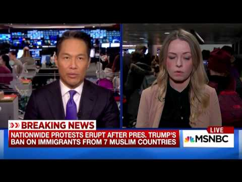Fiona McEntee   MSNBC TV News 1 28 2017 826PM
