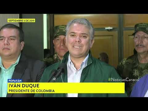 Presidente Duque ofrecio millonaria cifra por informacion de alias 'Mayimbu' y alias 'Marlon'