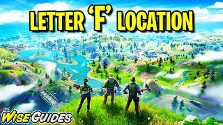 Fortnite LETTER F Location Guide - Chapter 2 Season 1 New World Challenges