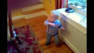 Toddler dances to 2 Skinnee J's