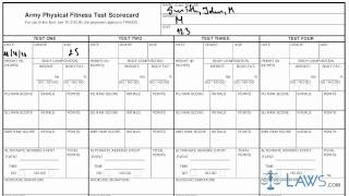 Learn How to Fill the DA form 705 Army Physical Fitness Test Scorecard