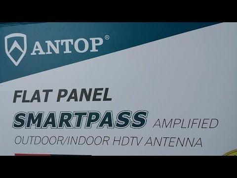 Antop Flat-Panel Smartpass Amplified Outdoor Indoor TV Antenna with High  Gain 4G LTE Filter