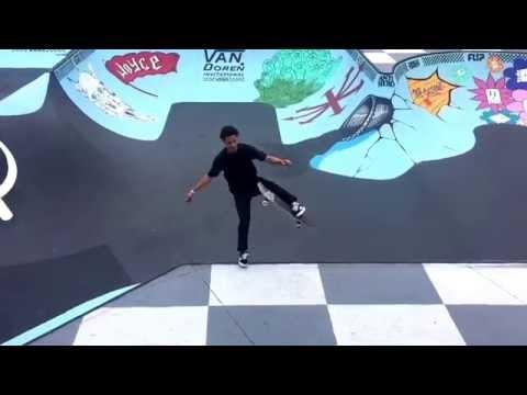 A Fancy Footwork Skateboard Move by Daniel Vargas