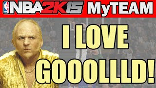 I LOOOVE GOOOLLLDD! - NBA 2K15 MyTeam Pack Opening: Legendary VIP Packs