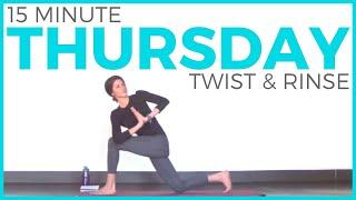Thursday (7 Day Yoga Challenge) Twist & Rinse Vinyasa Yoga Routine | Sarah Beth Yoga