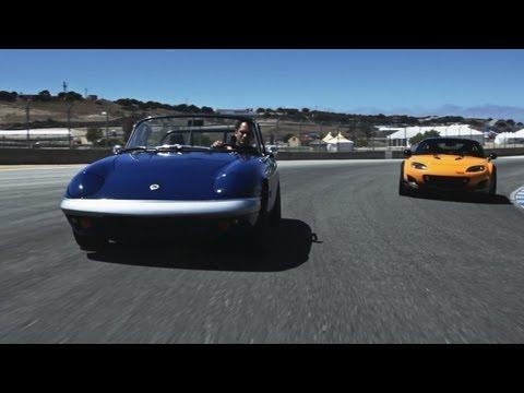 1967 Lotus Elan and Mazda MX-5 Super 20 Concept
