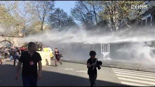 Jets de pierres contre gaz lacrymogènes : casseurs et forces de l'ordre s'affrontent à Paris