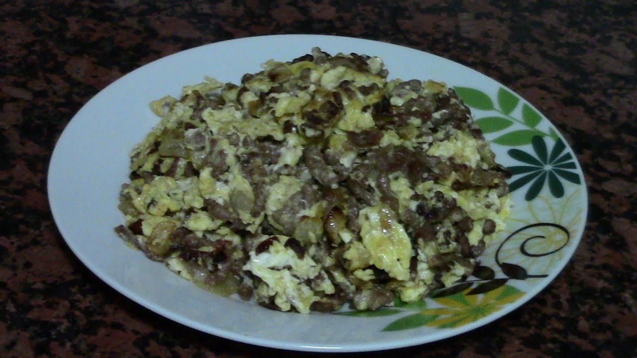 TORTILLA DE CARNE CON CEBOLLA | recetas de cocina faciles rapidas y economicas de hacer - comidas