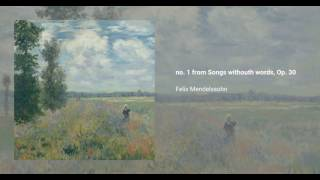 no. 1 from Songs withouth words, Op. 30