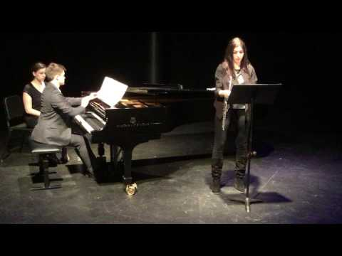 A video from my graduate recital. Here I'm playing Francis Poulenc's  Sonata for Flute and Piano with a fantastic flautist I met at NYU.