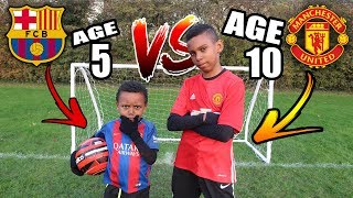 5 YEAR OLD vs 10 YEAR OLD Penalty Shootout Challenge
