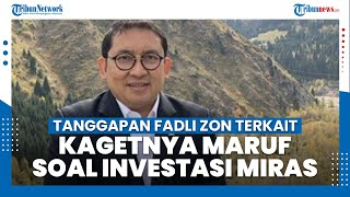 Tanggapan Fadli Zon soal Kagetnya Maruf Amin dengan Investasi Miras: Lebih Baik Kaget daripada Tidak