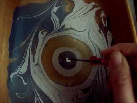 marmorizzazione con colori acrilici. Disegnare sull'acqua tutorial