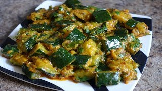 Zucchini Sabzi || Sangeeta's World