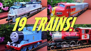 The Great Model Train Race With 19 Trains