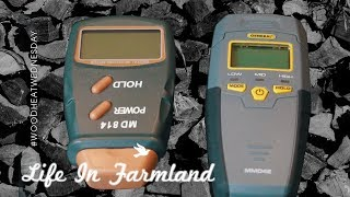 How to check if your firewood is dry enough to burn - Using Moisture Meter