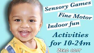 Indoor Toddler Activities Kannada Vlog || Fine Motor Skills, Sensory And Concentration Activities