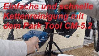 Einfache Kettenreinigung mit dem Park Tool CM-5.2 am E-Bike und Pedelec