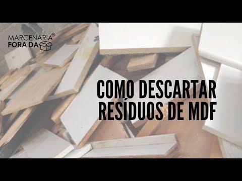 Descarte de resíduos de MDF