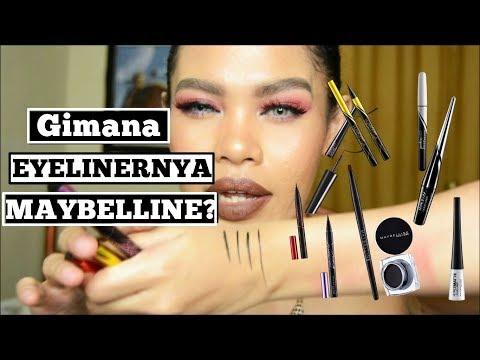 Maybelline Eyeliners Review.. yang mana  yang bagus? (Pencil, Pen, Liquid, Gell)