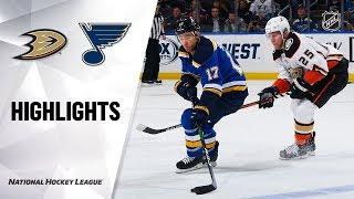 NHL Highlights | Ducks @ Blues 1/13/20