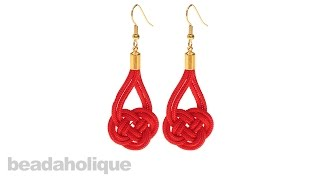 How To Make A Pair Of Double Coin Knot Earrings