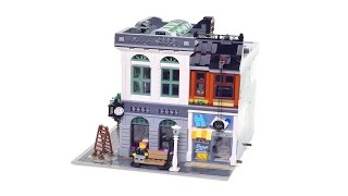 Super smooth Lego® build: Lego Brick Bank 10251 (stop motion review)