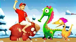 Игра про Динозавров для Детей Защищаем Яйцо от Траглодитов #19 Мультик про Динозавров Lion boy