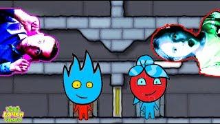 ПРИКЛЮЧЕНИЯ ОГОНЬ и ВОДА в Ледяном храме серия 5. Развлекательное видео для детей. Игровой мультик