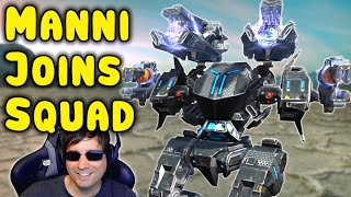 MANNI JOINS FULL CLAN SQUAD - War Robots 6v6 Gameplay WR